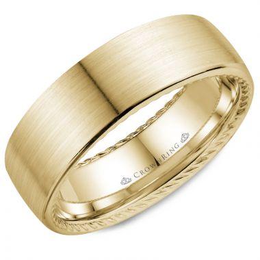 CrownRing 14k Yellow Gold Rope 7mm Wedding band