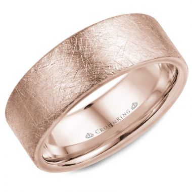 CrownRing 14k Rose Gold Classic 8mm Wedding Band
