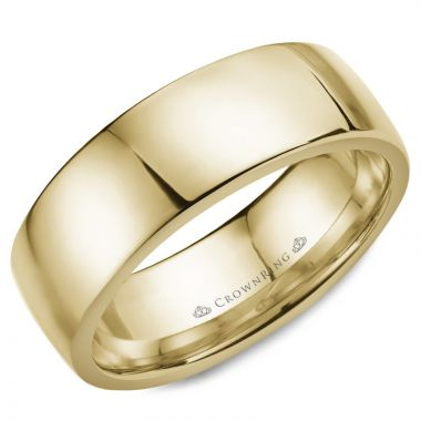 CrownRing 14k Yellow Gold Classic 8mm Wedding Band