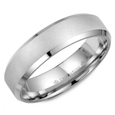 CrownRing 14k White Gold  Classic 6mm Wedding Band