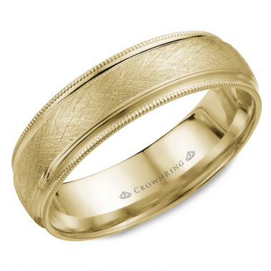 CrownRing 14k Yellow Gold Classic 6mm Wedding Band