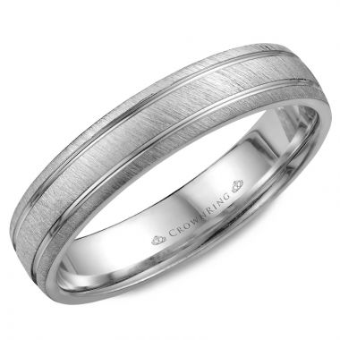 CrownRing 14k White Gold Classic 4.5mm Wedding Band
