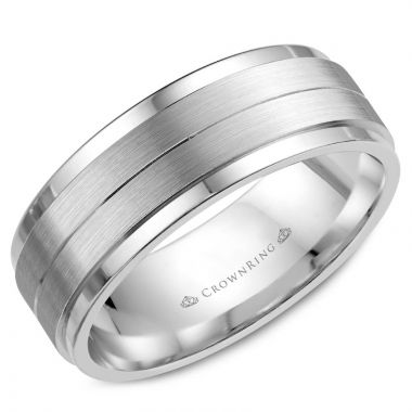 CrownRing 14k White Gold Classic 7mm Wedding Band
