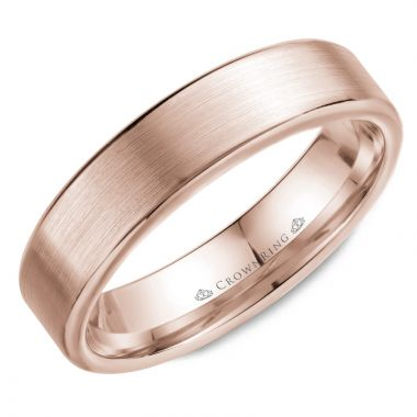 CrownRing 14k Rose Gold Classic 5.5mm Wedding Band