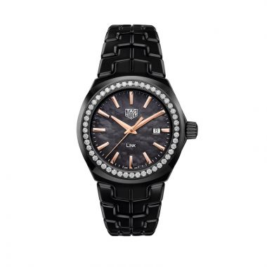TAG Heuer Link Quartz Steel & Black Ceramic 32mm Women's Watch