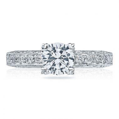 Tacori Platinum Classic Crescent Straight Diamond Engagement Ring