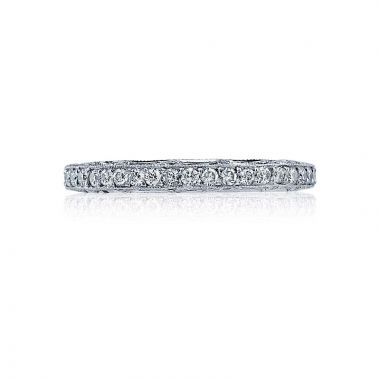 Tacori Platinum Reverse Crescent Eternity Wedding Band