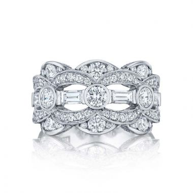 Tacori Platinum Adoration Diamond Wedding Band
