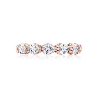 Tacori 18k Rose Gold RoyalT Eternity Wedding Band