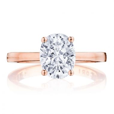 Tacori 14k Rose Gold Coastal Crescent Diamond Solitaire Engagement Ring
