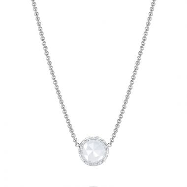 Tacori Floating Bezel Necklace featuring Chalcedony