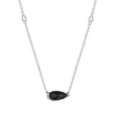 Tacori Solitaire Pear-Shaped Gem Necklace with Black Onyx